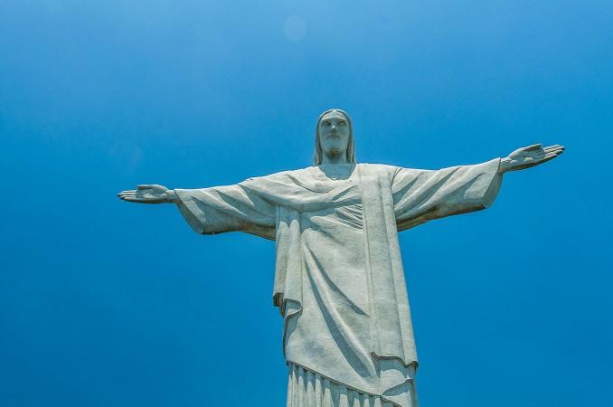 Il Cristo Redentore in cima al monte Corcovado