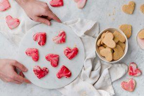 Biscotti marmorizzati di San Valentino